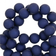 6 mm acryl kralen Dark dazzling blue