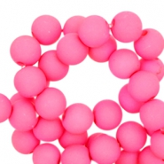 6 mm acryl kralen Fluor light pink
