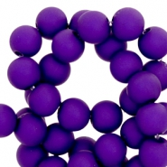 8 mm acryl kralen Dark violet blue