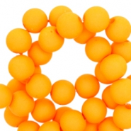 6 mm acryl kralen Sunny fluor orange