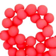 6 mm acryl kralen Bright coral red