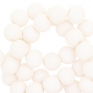 8 mm acryl kralen Pale ivory white