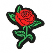 Patches roos Rood-groen