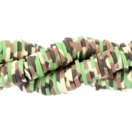 Katsuki kralen army print 3mm Green-brown-beige