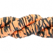 Katsuki kralen animal print 4mm Orange-black
