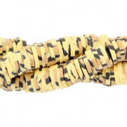 Katsuki kralen animal print 4mm Yellow-brown-black