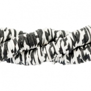 Katsuki kralen animal print 6mm Off white-black