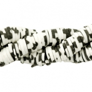 Katsuki kralen animal print 6mm Black-off white