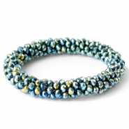 Top facet armbandjes Blue gold-diamond metallic