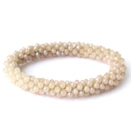 Top facet armbandjes Light almondine beige-full diamond coating