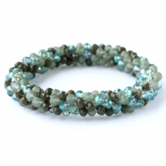 Top facet armbandjes Green mixed colours (opal/diamond)