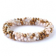 Top facet armbandjes Copper-light rose alabaster (metallic/diamond)