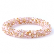 Top facet armbandjes Rose alabaster-champagne gold (opal/diamond)