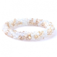 Top facet armbandjes White-beige (opal/diamond)