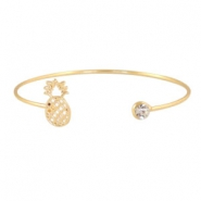 Armbanden pineapple + diamond Goud
