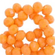 Top Facet kralen 6x4 mm disc Vibrant orange