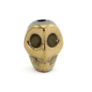 Hematite Kralen Skull Antique gold