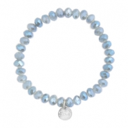 Top facet armbandjes Sisa 6x4mm (RVS bedel) Grey-blue diamond coating