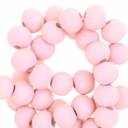 Houten kralen rond 6 mm Light pink
