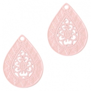 Hangers bohemian druppelvorm 20mm Light pink