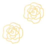 Tussenstukken bohemian rose 10mm Gold
