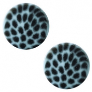 20 mm platte cabochon Polaris Elements leopard Soft lagoon blue