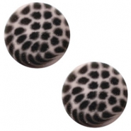 20 mm platte cabochon Polaris Elements leopard Greige