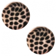 12 mm platte cabochon Polaris Elements leopard Light vintage rose