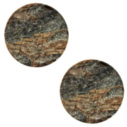 20 mm platte cabochon Polaris Elements stone look Dark brown