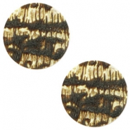 20 mm platte cabochon Polaris Elements stone look Light topaz- dark brown
