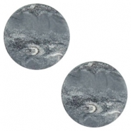 12 mm platte cabochon Polaris Elements stone look Ocean grey