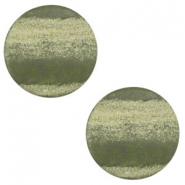 12 mm platte cabochon Polaris Elements stone look Forrest green