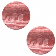 12 mm platte cabochon Polaris Elements stone look Soft cashmere rose