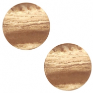 12 mm platte cabochon Polaris Elements stone look Beige topaz