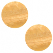 12 mm platte cabochon Polaris Elements stone look Light cognac brown