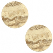 20 mm platte cabochon Polaris Elements stone look Hay beige brown