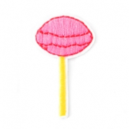 Patches lolly Roze-geel