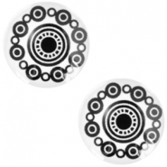 Cabochon basic Zeeuwse knop 12mm Black