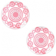 Cabochon basic Zeeuwse knop 20mm Rose pink