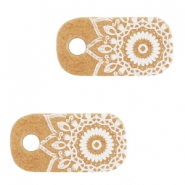 "Sieraden kaartjes 'made with love"" mandala Brown"