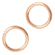 DQ 12 mm buigring DQ Rose Gold plated duurzame plating