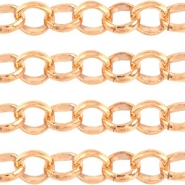 Design kwaliteit 3 mm rond jasseron DQ Rose Gold plated duurzame plating