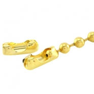 DQ slotje ball chain voor 2 mm ketting DQ Gold plated duurzame plating