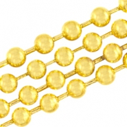 DQ ball chain / bolletjesketting 3 mm DQ Gold plated duurzame plating