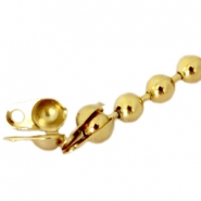 DQ eindkapje ball chain voor 3 mm ketting DQ Gold plated duurzame plating