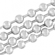 DQ ball chain / bolletjesketting 3 mm DQ Antiek Silver plated duurzame plating