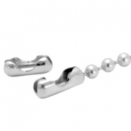 DQ slotje ball chain voor 4.5 mm ketting DQ Antiek Silver plated duurzame plating