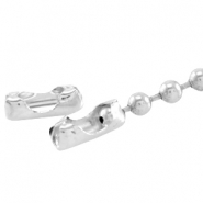 DQ slotje ball chain voor 1.2 mm ketting DQ Silver plated duurzame plating