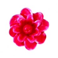 Bloemen kralen 12mm Light fuchsia