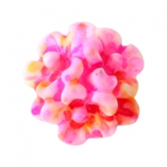 Bloemen kralen boeket 10mm Pink-yellow